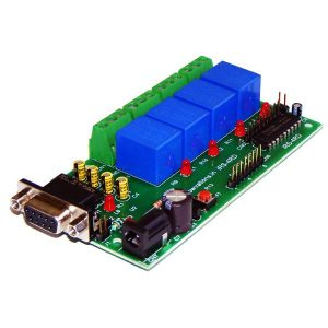 IRS-4RD 4 Channel RS232 Relay Board With DAQ
