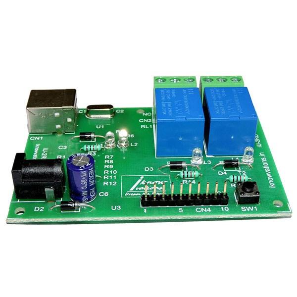 IU-2RD 2 Channel USB Relay & DAQ Board