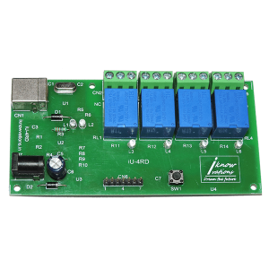IU-4RD 4 Channel USB Relay & DAQ Board
